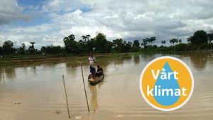 Fiskarde på Senfloden i Kambodja