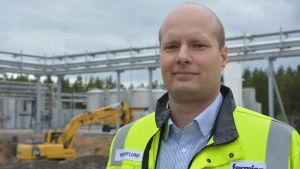 Kim Nylund, chef för investeringsprojekt vid Fermion i Hangö.