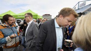Juha Sipilä och Antti Kaikkonen i Nyslott.