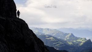 Klättrare i Alperna.
