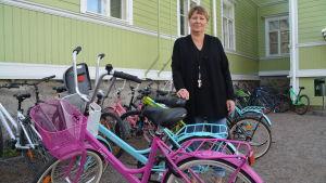 Gymnastiklärare Monica Gustafsson från Borgå.