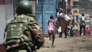 Oroligheter i Nairobi efter kenyanska valet 2017.