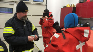 Brandmän förbereder övning