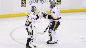 Juuse Saros ersatte Pekka Rinne i den andra Stanley Cup-finalen.