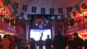 Ryska fans kan följa OS vid Sports House.
