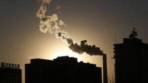 Värmekraftverk i Kinas huvudstad Peking i januari 2013.