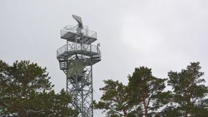 radartornet på glosholm sjöbevakningsstation i borgå