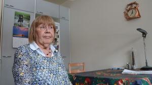 Birgitta Guvenius är ordförande för pensionärsföreningen på Drumsö.