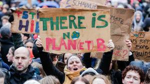 Klimatdemonstranter i Bryssel.