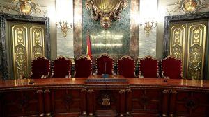 Spaniens högsta domstol där rättegången mot de tolv katalanska ledarna hålls