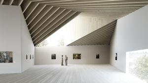 teckning av interiör från en modern byggnad