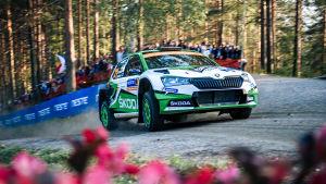 Kalle Rovanperä i Jyväskyläs VM-rally.