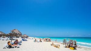 Stranden i Varadero på Kuba år 2012.