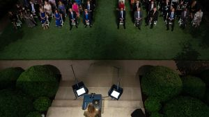 Melania Trump håller tal under Republikanernas konvent 25.8.2020
