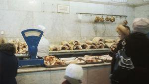 Lihakauppa Leningradissa Neuvostoliitossa 1980-luvulla