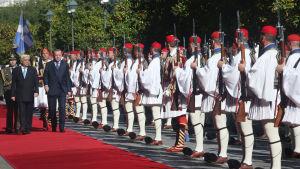Turkiets president Recep Tayyip Erdogan på statsbesök i Grekland