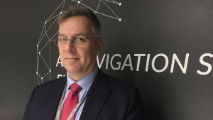 Karri Hannula, chef vid Finlands flygledningscentral.