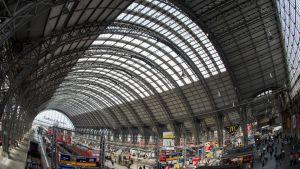 Centralstationen i Frankfurt.