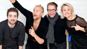 Ted, Janne, Ville och Fredrika.