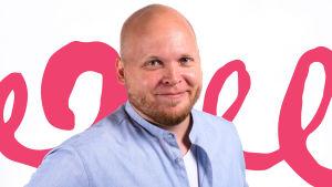 "Pressbild på Christian ""Kike"" Bertell, Vega Lördags och Söndags nya programledare."