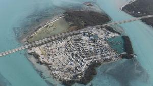 Öarna i de mellersta delarna av Florida Keys drabbades värst i hela Florida. Här har en bilpark - en så kallad trailer park förstörts av Irma