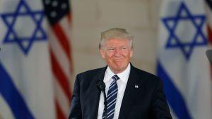 USA:s president Donald Trump höll ett tal i Israelmuséet i Jerusalem den 23 maj.