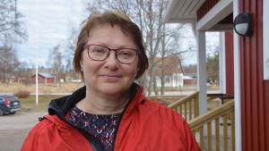 Britt-Mari Söderholm, ordförande för Bergö öråd.