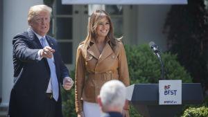 Donald och Melania Trump