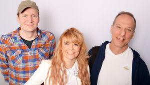 Jami Liukkonen, Erika Vikman ja Peter Norrby Levylautakunnassa