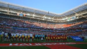 Gruppspelsmatchen spelades i Kaliningrad, bronsmatchen spelas i S:t Petersburg.