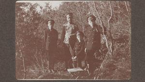 jaktutflykt med tsar Nikolaj II, 1915