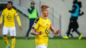 Petteri Pennanen är kapten för KuPS herrar.