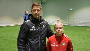 Stefan Strömborg och juniormålvakten Alex Aaltonen.