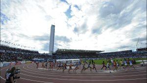 Friidrottstävlingar på Olympiastadion i Helsingfors.