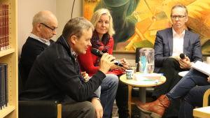 Edgar Sjövall, Folke Öhman, Barbara Heinonen och Patrik Nygrén.