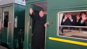 Nordkoreas ledare Kim Jong-Un tycks tycka om tåg, för han har använt specialtåg flera gånger då han har varit utomlands