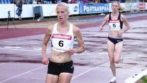 Camilla Richardsson slutade tvåa i loppet bakom vitryskan Katsiarina Karnejenka.