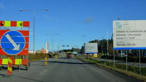 Omfartsvägen norr om Vasa.