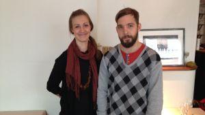 Linda Stenman-Langhoff och Filip Langhoff driver restaurangen Ask.