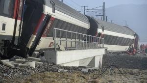 Tågolycka i schweiziska rafz 20.2.2015