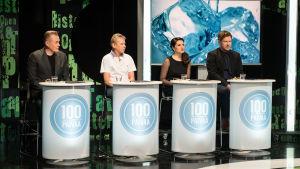100 päivää -kilpailijat studiossa