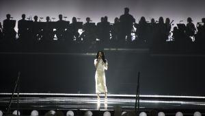 Conchita Wurst på Eurovisionscenen.
