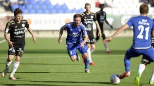 SJK - FK Hafnarfjördur, Wayne Brown, Thorarinn Valdimarsson, Bödvar Bödvarsson. 2.7.2015.