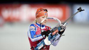 Kaisa Mäkäräinen klantade bort sig på vallen.