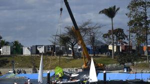 En seglingsramp kollapsade i Rio.