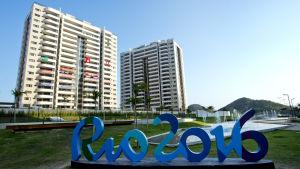 Höghus i OS-byn i Rio de Janeiro.