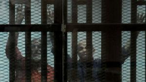De flesta av Muslimska brödraskapets toppledare har dömts till döden, bland dem den högste ledaren Mohamed Badie (tv)
