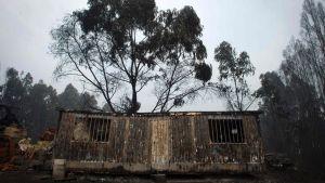 Resterna av ett huis i byn  Figueiro dos Vinhos, Portugal