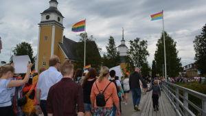 Prideparaden i Nykarleby 2017