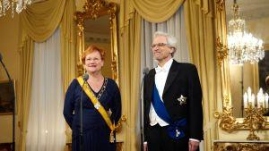 President Tarja Halonen, doktor Pentti Arajärvi